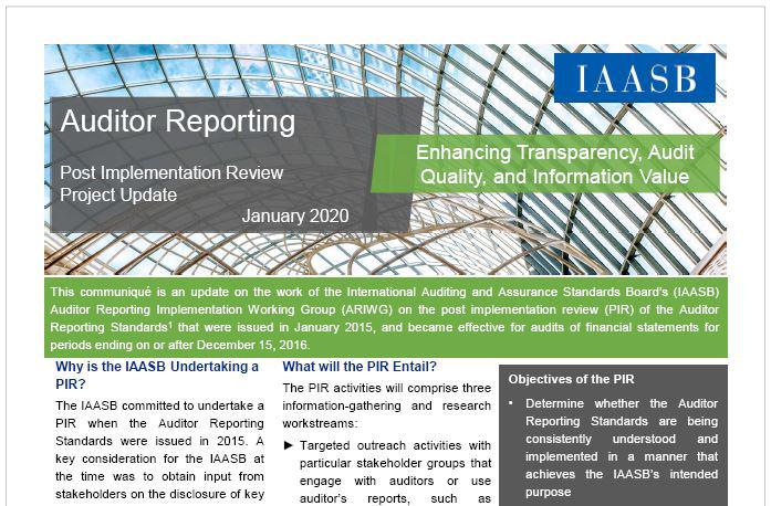 AZ IAASB legfrissebb közleménye a könyvvizsgálói jelentés projektről