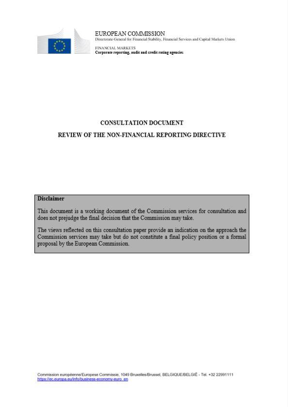 EU Intézkedési terv a nem-pénzügyi információkról való jelentéstétellel kapcsolatban